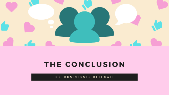 big businesses delegate SEO content marketing