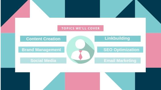 topics we'll cover for the SEO content marketing blog