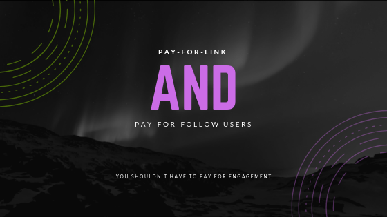 pay for link pay for follow users seo content marketing