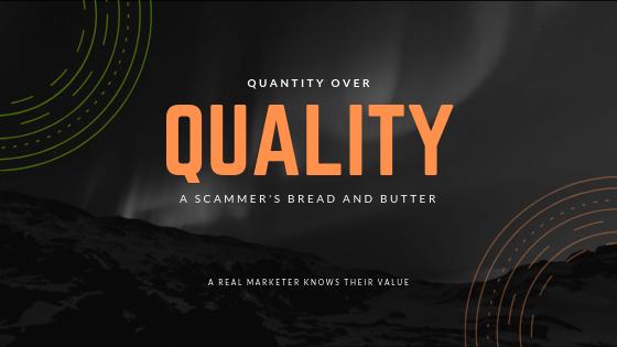 quantity over quality seo scam marketing