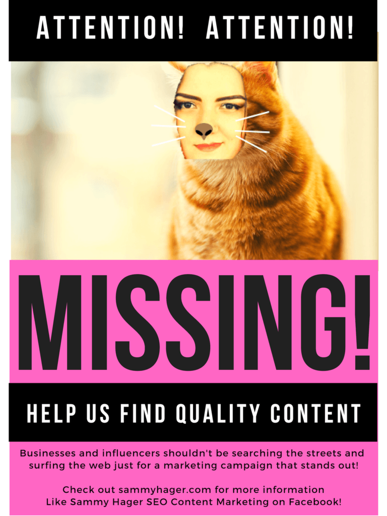 Missing Poster Physical Marketing
