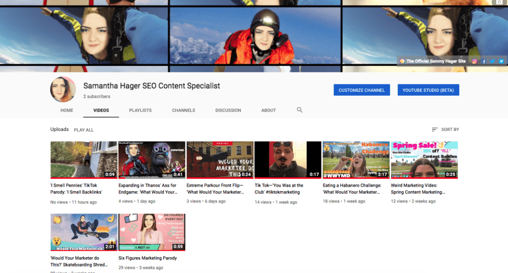 YouTube social media brand identity